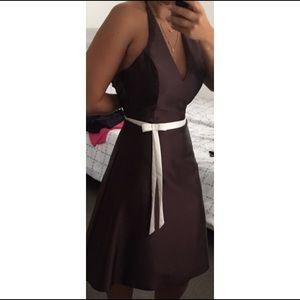 A-line halter dress